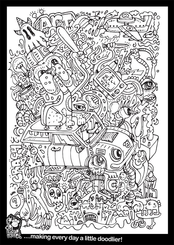 Doggy Driving Colouring Sheet