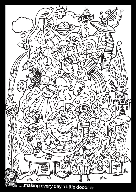 I Love Your World Colouring Sheet